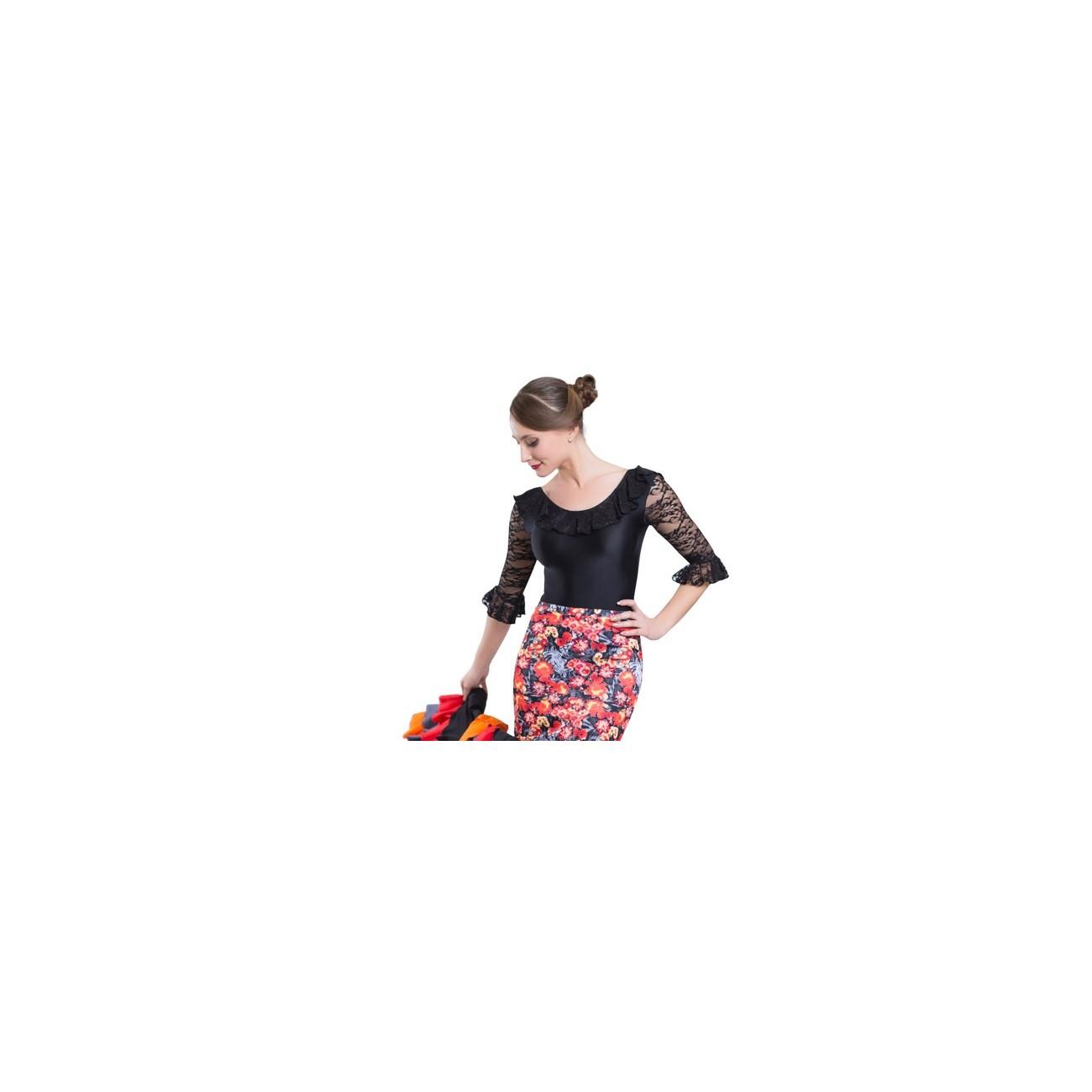 717f3527d7 Maillot flamenco encaje - Reino Danza