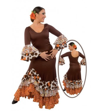 Falda flamenco de tres volantes