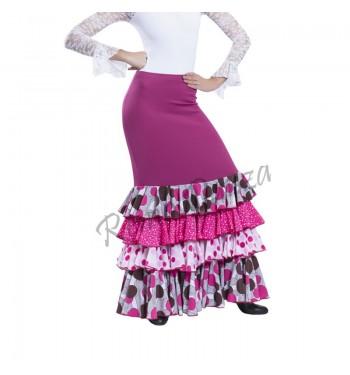 Falda flamenco 4 volantes