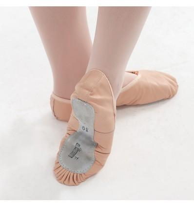 Zapatilla ballet media punta piel