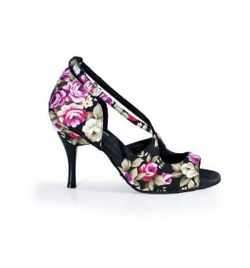Zapato de baile Latino Flores