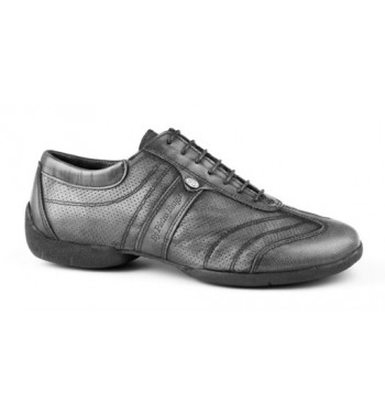 Zapato de baile pietro stret gris piel