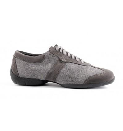Zapato de baile pietro stret gris