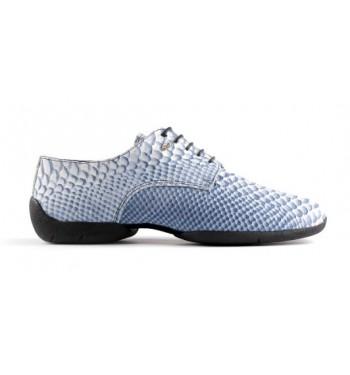 Zapato de baile piel de serpiente azul