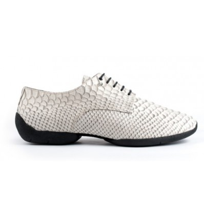 Zapato de baile piel de serpiente blanco