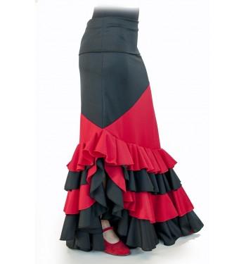 Falda flamenca de capa abierta