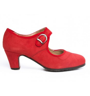 Zapato flamenco hebilla ancha
