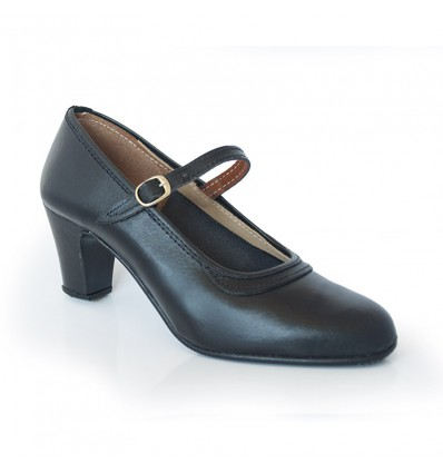 Zapato flamenco semiprofesional piel hebilla