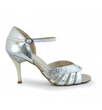 Sandalia plata gliter