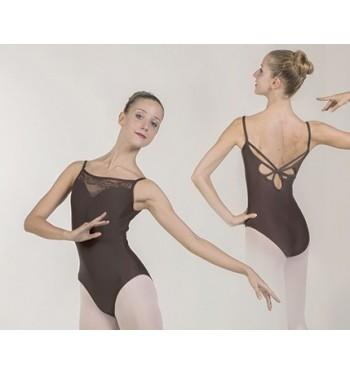 Maillot ballet encaje y espalda trenzada