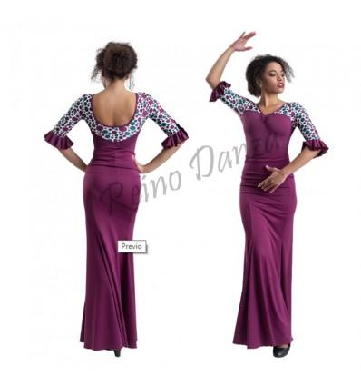 Falda flamenco ajustada a rodilla