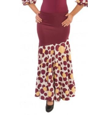 Falda flamenco corte oblicuo