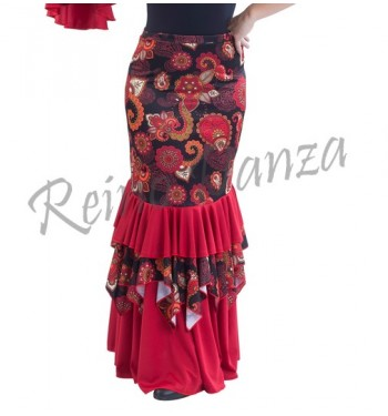 Falda flamenco volantes y...