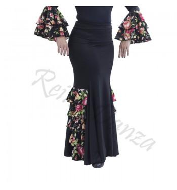 Falda flamenco de volantes