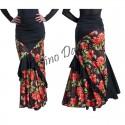 Falda flamenca asimetrica