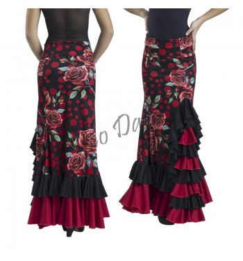 Falda flamenca estampada colin de volantes