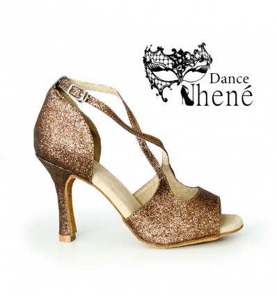 Zapato de baile latino gliter