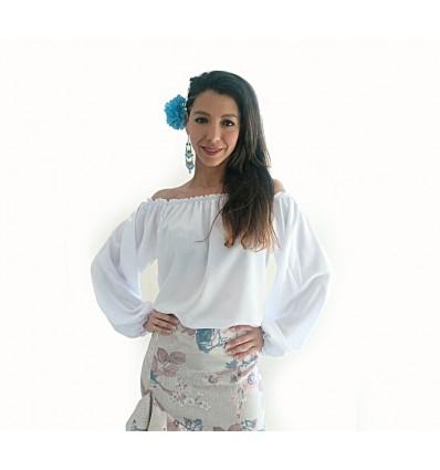 Camisa flamenca manga larga.