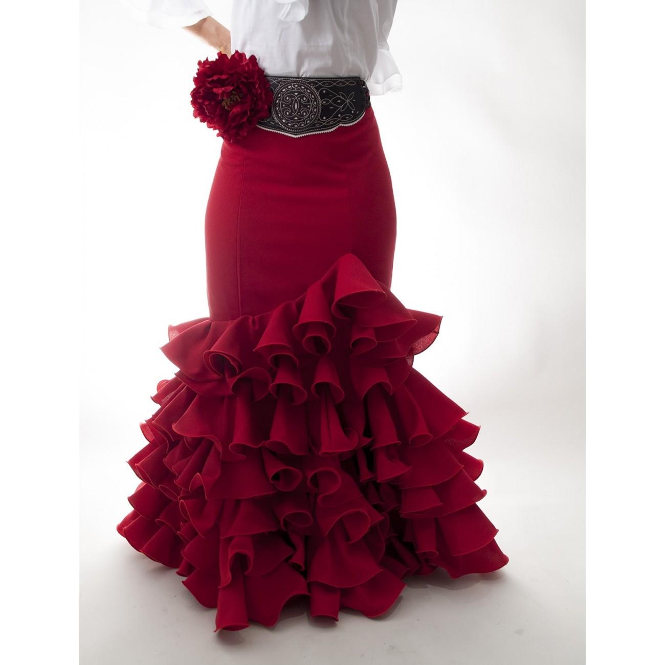 nuevo estilo 594aa d75cb Falda flamenca rociera