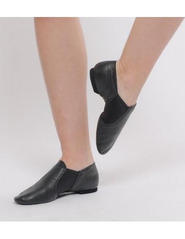 zapatilla de jazz sin cordones piel