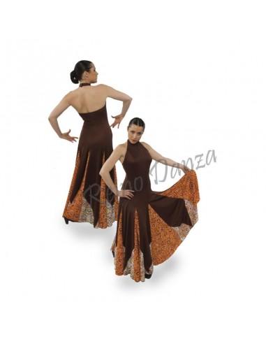 Vestido flamenco capa y media