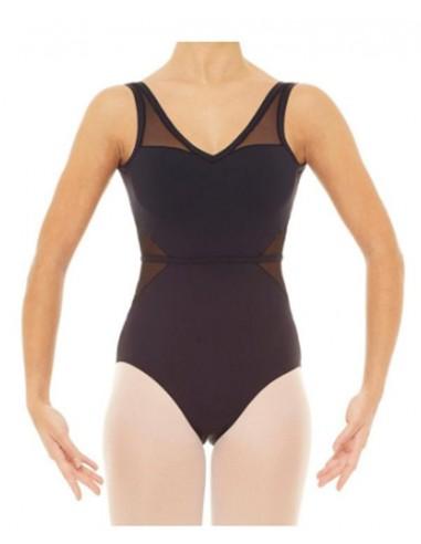 maillot ballet con transparencias
