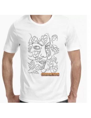 Camiseta rostro con flores