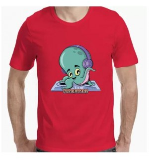 Camiseta manga corta pulpo