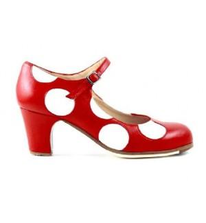 Zapato de flamenco profesional de lunares