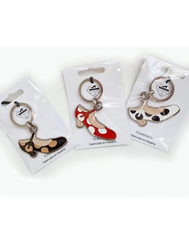 LLavero zapato flamenco lunares