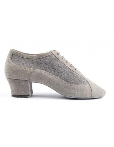 Zapato de baile cordones gris