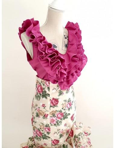 Blusa flamenca con volantes en escote