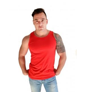 Camiseta tirante ancho ajustada hombre