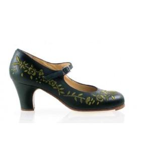 Zapato flamenco profesional bordado