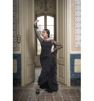 Sobrevestido flamenco topos