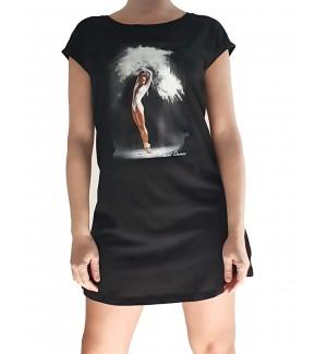Camiseta larga vestido bailarina