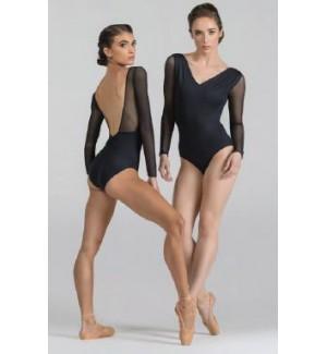 Maillot de ballet manga larga