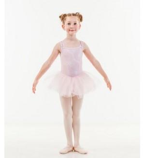 Vestidito ballet de encaje y tul para niñas