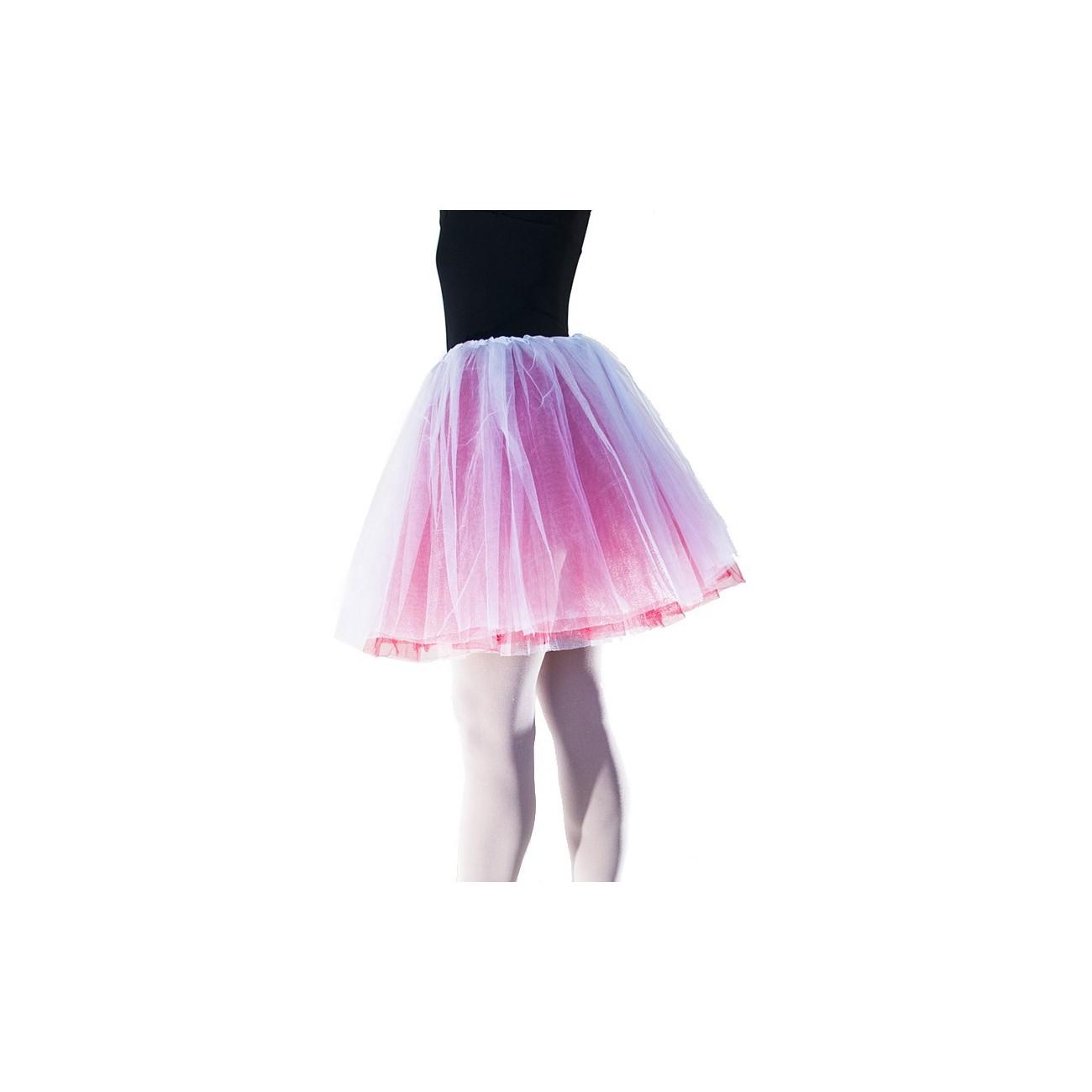 falda de tul en dos colores reinodanza com