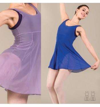Sobre vestido de gasa Lolita