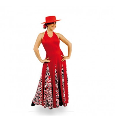 E3666 - Vestido flamenco de 8 godés