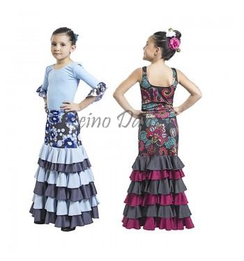 Falda Flamenco 8 volantes