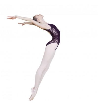 Maillot de danza con encaje en laterales