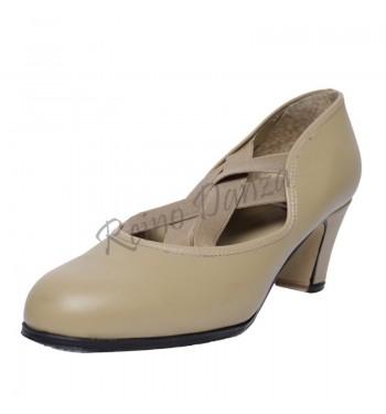 Zapato flamenco doble elastico cruzado