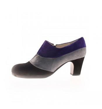 Zapato flamenco tricolor