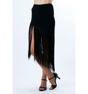 Falda de flecos largos