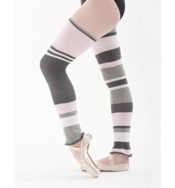 Calentadores para ballet de rayas